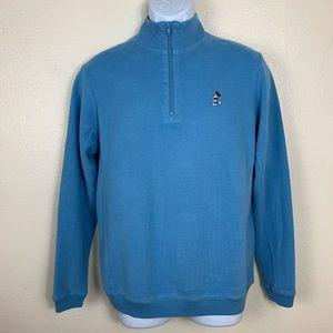 Disney Blue Mickey Turtle Neck Pullover Sweater